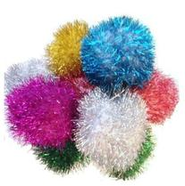 Sparkle Ball Cat Toy - Jumbo 10 Pack Pom Poms - 2 to 2.5