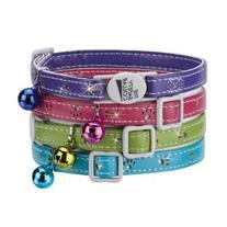 Savvy Tabby Sparkle Paw Cat Collar, Bluebird