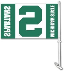 NCAA Michigan State Spartans Car Flag with Free Wall