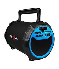 AXESS SPBT1034BL Portable Bluetooth Indoor/Outdoor 2.1 Hi-Fi
