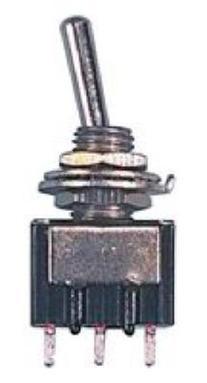 "SPDT Mini Toggle Switch - 1/4"" Mount - 250V - 6A"