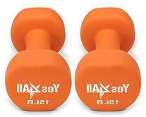 Neoprene dumbbells set of 1-pair: 15 lbs  - ²DABMZ