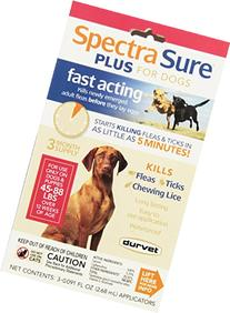 Durvet Spectra Sure PLUS Flea Treatment for 45 to 88-Pound