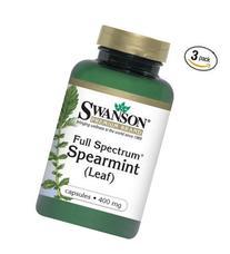 Swanson Full Spectrum Spearmint Leaf 400 mg 60 Caps