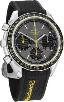 Omega Speedmaster Racing Grey Dial Black Rubber Mens Watch