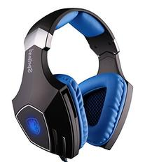 Sades Spellond Braided Fiber Wired Gaming Headset with 7.1