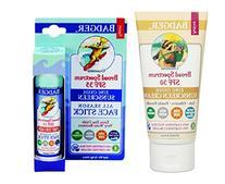 Badger SPF30 Sunscreen  and Badger SPF 35 Sport Sunscreen Face Stick