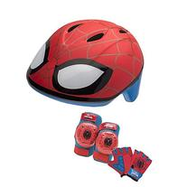 Marvel Spiderman Toddler Skate / Bike Helmet Pads & Gloves