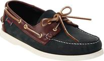 Sebago Men's Spinnaker Shoe,Blue/Brown,10 W US