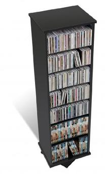 Prepac Spinning CD Tower - Two Sided Black