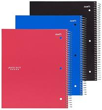 Five Star Spiral Notebook, 3 Subject, College Ruled, 150