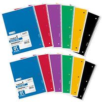 Mead Spiral Notebooks, Wide Ruled, 70 Sheets, Assorted