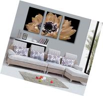 Spirit Up Art Large Black and White Gorgeous Flower, Picture