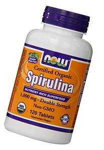 Now Foods Spirulina Certified Organic Tablets, 1000 mg, 120