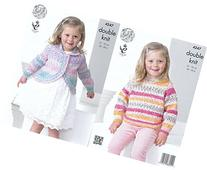 King Cole Splash DK Double Knitting Pattern Childrens Girls