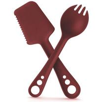 GUYOT DESIGNS MicroBites 5-in-1 Utensil Set Tomato Red One