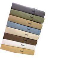 Split-King: Adjustable King Size White Cotton-Blend Wrinkle-