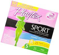Playtex Sport Tampons with Flex-Fit Technology, Regular and