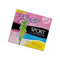 Playtex Sport Unscented Tampon, Regular Absorbency, 36 Count