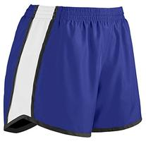 Augusta Sportswear Girls' PULSE TEAM SHORT M Purple/White/