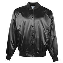 Augusta Sportswear MEN'S SATIN BASEBALL JACKET/SOLID TRIM M