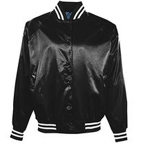 Augusta Sportswear Men's Satin Baseball Jacket/Striped Trim