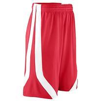 Augusta Sportswear MEN'S TRIPLE-DOUBLE GAME SHORT 3XL Red/