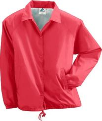 Augusta Sportswear mens Lined Nylon Coach's Jacket-RED-5XL
