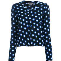 Boutique Moschino - spot print cardigan - women - Cotton -