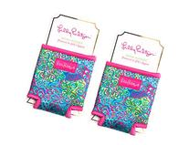 Lilly Pulitzer Spring / Fall Drink Hugger  2 Pack Bundle