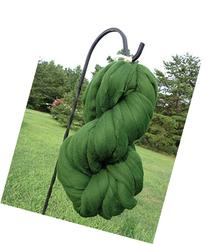 Spruce Green Wool Top Roving Fiber Spinning, Felting Crafts