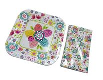 Spring Fling! Square Plates and Napkins Set - 30-pc Set