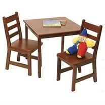 SQUARE TABLE & 2 CHAIRS SET