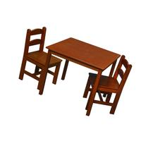 Gift Mark Square Table and Chair Set Honey