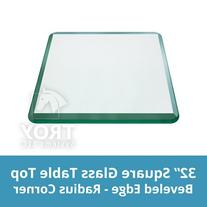 TroySys Square 1/2 Inch Thick Bevel Polished Annealed Glass