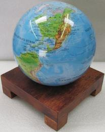 "Square Wood Base for 4.5"" MOVA Globe"