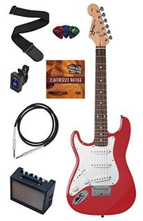 Squier by Fender Mini Strat Electric Guitar Bundle with