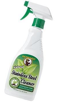 Howard  SS0012 Natural Stainless Steel Cleaner, 16-Ounce,