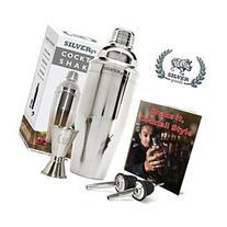 Premium SST Cocktail Shaker Set Bundle w Jigger, Pourers and