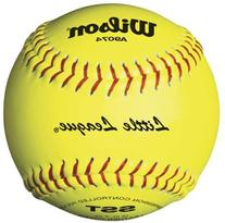 "12"" SST Yellow Leather Little League Play Softballs from"