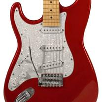 Sawtooth Candy Apple Red Electric Guitar with Pearl White