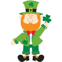 Amscan Lucky Irish Green St. Patrick's Day Jointed Leprechaun Paper Cutout Party Decoration , Multicolor, 35