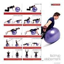 Escape Men's Stability Ball Progression Poster Home Gym