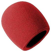 On Stage Foam Ball-Type Mic Windscreen, Red