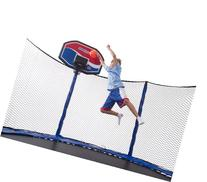 JumpSport Staged Action Basketball Trampoline Package
