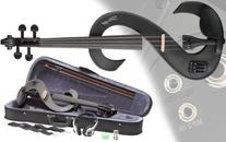 Stagg EVN 4/4-Size Silent Violin Set with Case - Metallic