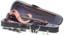 Stagg EVN 4/4 PK Silent Violin Set with Case, Pink