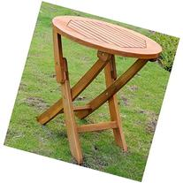 19 in. Stained Folding Patio Table