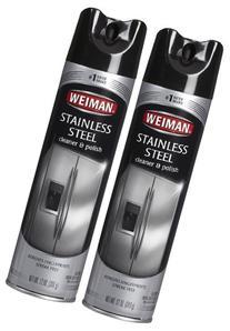 Weiman Stainless Steel Cleaner & Polish Aerosol - 12 oz - 2