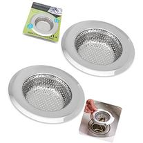 2PCS Stainless-Steel Kitchen Sink Strainer - Large Wide Rim